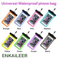 Cas imperméables universels pour iPhone 12 11 XR XS Téléphone Samsung Sac transparent Sac clair Natation Pochette Dry Pouch Couverture Plein Protecteur Écran tactile flexible