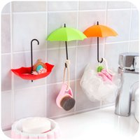 3Pcs Colorful Umbrella Wall Hook Key Hair Pin Holder Organiz...