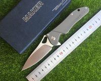 Maker 3 design Cuscinetto a sfere Flipper pieghevole in ceramica originale S35vn (100%) Coltello Titanio TC4 Titanium manico da tasca