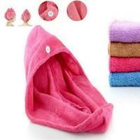 Magia das mulheres Quick Dry Bath Cabelo Secagem Toalha Envoltório Cabeça Chapéu de Maquiagem Cosméticos Tampa Ferramenta de Banho
