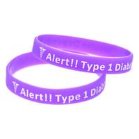 100 pcs alerta tipo 1 diabetes pulseira de silicone Que melhor maneira de transportar a mensagem do que com um lembrete diário