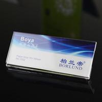 75 * 30 ملليمتر اسم شارة العمل بطاقة الموظف بطاقة الاكريليك شارة حامل عرض مكتب التموين شركة مصنع المدرسة