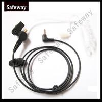 FBI 3.5mm Fone De Ouvido Fone De Ouvido Ouvir Apenas Fone De Ouvido Tubo Acústico com tubo acústico para baofeng walkie talkie microfone