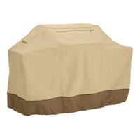 Gros- 190cm BBQ Barbecue Housse de protection imperméable Grill Couverture avec sac de rangement (kaki)