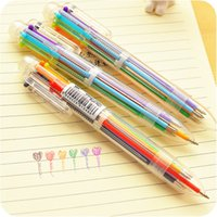 3Pcs Cute 6 in 1 color refill Ballpoint Pen creative writing...