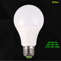 중국 심천 공장 도매에서 LED E27 전구 15W 12W 9W 7W 5W-3W 110V 220V AC85-265V E14 디 밍이 가능한 디밍 컬러 램프 직접