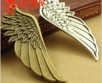 57*22MM retro tibetan Silver Wing charms feather Pendant, an...