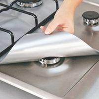 4Pcs set Reusable Foil Gas Hob Range Stovetop Burner Protector Liner Cover For Cleaning Kitchen Tools