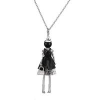 Más reciente llegada de moda collar de la muñeca joyería de estilo étnico muñeca colgante mujer collar largo regalo al por mayor envío gratuito