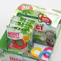 Su larga scala 5 colori Zanzara Repellente Bracciali Anti zanzara Pure Natural Adulti e bambini Polsino colori misti Pest Control