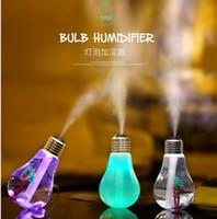 umidificatore a lampadina a led 7 luci notturne a colori umidificatore domestico mini LED USB umidificatore ripristinando antichi modi in casa