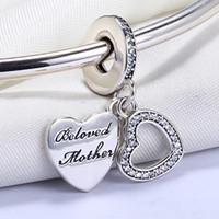 Großhandel 925 Sterling Silber Nicht Überzogene Belove Monther Anhänger Charme Europäischen Charme Perlen Fit Pandora Schlangenkette Armband DIY Schmuck