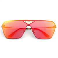 Wholesale- Unisex Fashion Classic Big Frame Design Retro Sunglasses UV400 Protection 6 colors 2016 Hot Sale