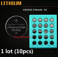 10 قطع 1 وحدة cr2032 3 فولت بطارية ليثيوم أيون زر خلية البطارية cr 2032 3 فولت بطاريات ليثيوم أيون عملة صينية حزمة شحن مجاني