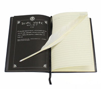 Death Note Cosplay Notebook Book + Feather Pen Anime Writing...