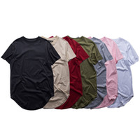 Mode Hommes étendus T-shirt Longline Hip Hop Tee shirts Femmes Swag Vêtements Harajuku Rock Tshirt Homme