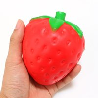 Fresa Squishy Slow Rising 12CM Jumbo Cute Straps Correas Sweet Cream Charms Kawaii Pendant Bread Kids Toy Gift Red