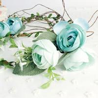 Роза цветок венок свадьба свадебный искусственный цветок глава тиара Корона для волос цветочные оголовье женщина аксессуары для волос