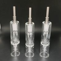 蜜の釘10mm 14mmの蜜のコレクターグレード2の蜂蜜ストロー濃縮物蜂蜜DABストローミニガラス玉石油リグ