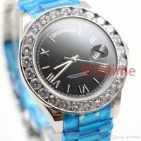 Президент 18K Gold Mens Watch Big Diamond Bezel Gold Нержавеющая сталь Оригинальный Ремешок Автоматическое движение Мужчины Дизайнер Часы Наручные часы