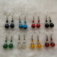 Paar / 2pcs großhandel gleiche design jade / türkis / lazuli / coral perlen ohrringe