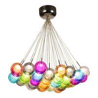 Luces colgantes coloridas de la lámpara de cristal G4 LED 110V / 220V Luces colgantes creativas del diseño para la sala de estar casera del café de la barra del deco