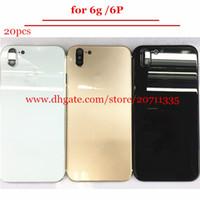 iPhone 6 6p gibi X 10 stil Arka Kapak Konut Alüminyum Metal Arka Pil Kapı Kapak Yedek İçin 20pcs Kaliteli