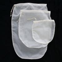 Oval 3 tamanho reutilizável chá de leite suco de frutas finas NYLON malha saco de filtro de tensão E00297 BARD