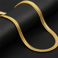 Factory Supply Classic 71cm Women Men Real 18K Yellow Gold F...