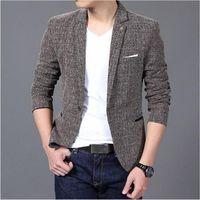 Wholesale- AILOOGE 2016 neues freies Verschiffen beiläufige Blazer Männer Art und Weise Marken-Jacke Anzüge Maskulin-Blazer-Mantel-Knopf-Mann-Klage Jacke
