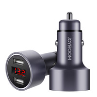 JOYROOM Dual Metal Car Charger C- M215 Universal LED Display ...
