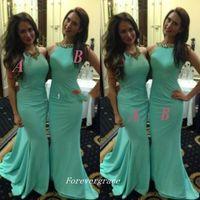 Элегантное дешевое мятно-зеленое платье для подружки невесты с русалкой и бисером длинное платье для подружки невесты свадебное платье для гостей на заказ плюс размер