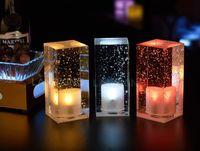 Lampada da tavolo a barre a LED in carica della lampada da tavola di cristallo della lampada notturna della caffetteria romantica variopinta della caffetteria KTV Lampada da bar del ristorante