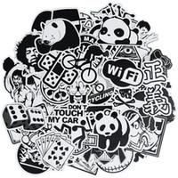 50 PC 무작위 흑백 펑크 애니메이션 스티커 짐 모터 자전거 스케이트 보드 벽 데칼 스티커 아이들을위한