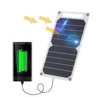 Sortie Banque actuelle 1000mAh Panneau solaire 5V 5W Chargeur solaire banque d'alimentation Chargeur USB Panneau de charge pour Mobile Smart Phone Samsung