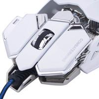 Freeshiping Combaterwing Gaming Mouse ماوس USB بصري سلكي قابل للبرمجة 10 أزرار RGB التنفس LED الفئران لنظام التشغيل Windows XP / Vista / Windows 7 / Mac OS