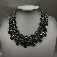 Xz622 moda jóias para as mulheres 6 cores handwoven vidro cristal choker colar de jóias por atacado frete grátis colar
