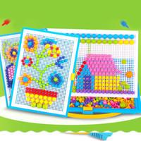 버섯 네일 키트 퍼즐 장난감 3D 모자이크 그림 퍼즐 295pcs 어린이 어린이 생일 선물 brinquedos juguetes