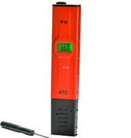 Freeshipping 10pcs / lot Portable PH Tester mit hoher Genauigkeit Temperaturkompensation ATC Wasserzähler Acidometer Monitor grüne Hintergrundbeleuchtung