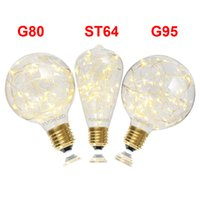 New E27 ST64 G80 G95 Vintage LED Fairy String Light Bulb War...