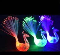 LED 깜박이 공작 광섬유 손가락 조명 반지 Raves 또는 파티 FavorParty 나이트 클럽 색 반지 광섬유 램프 키즈 어린이