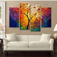 Яркая жизнь дерево картина картина ручной работы современные абстрактные картины маслом на холсте стены искусства украшения дома подарок не оформлена