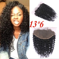 Brazilian Virgin Hair Lace Frontals with Baby Hair Deep Curl...