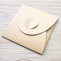 Heart clasp Kraft paper CD DVD sleeve envelopes cd packaging...