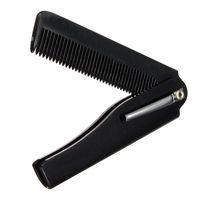 Atacado- Womens Handmade Mens Fashion Hot Folding bolso Clipe Cabelo Bigode Barba Comb