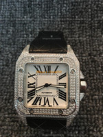 100 Full Diamond Watch High Quality Automatic Movement Mecha...