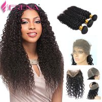 Water Lace Frontal And Bundles Kinky Curly With Closure Mink...