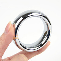무료 배송 둥근 금속 수탉 반지, 합금 페니스 링, 45mm / 47mm / 50mm, 남성용 페니스 루프 지연 시간, 성인 제품