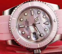 2017 Mens Automatic Watch 40mm Midsize Pink Ceramic Bezel Mo...