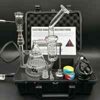 Neue Ankunft Portable Hardcover-Schnecke Enail Kit Trockene Kräuter Wachs Box Vaporizer Kit Arbeit mit Glas Wasser Bong Dab Ölplattformen Glasrohre
